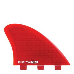 FK-1 PC Fish Keel Red Twin Fin Set